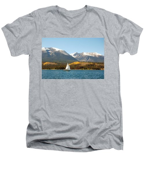 Fall In The Rockies Men's V-Neck T-Shirt