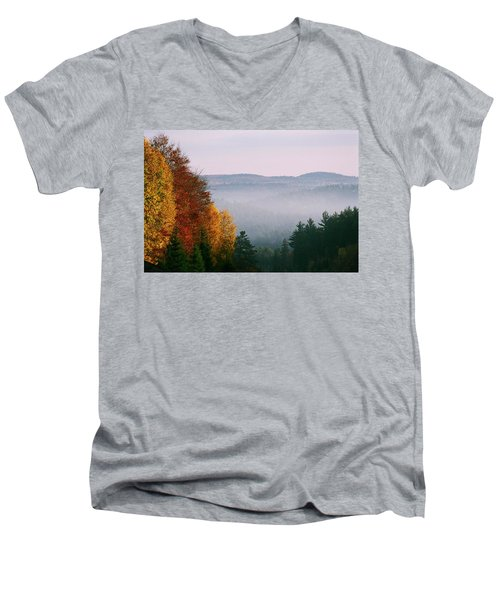 Fall Morning Men's V-Neck T-Shirt
