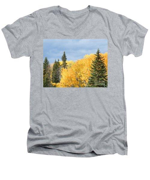 Fall Near Ya Ha Tinda Men's V-Neck T-Shirt