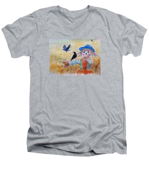 Fall Smile Men's V-Neck T-Shirt