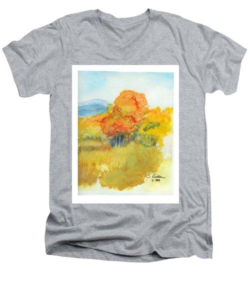 Fall Trees 2 Men's V-Neck T-Shirt by C Sitton