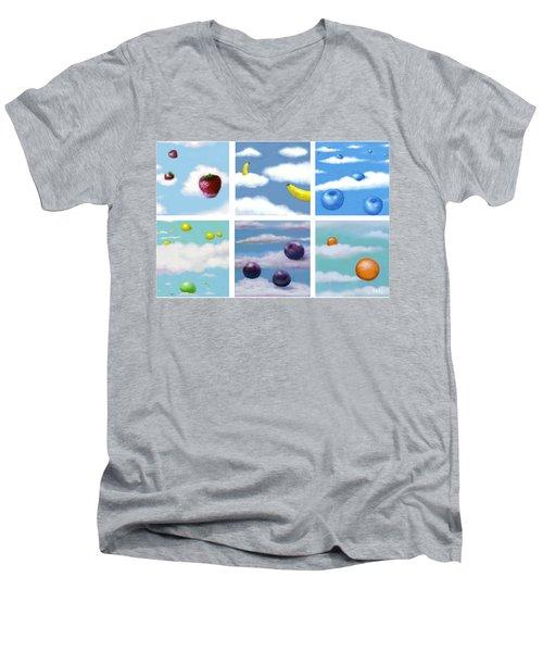 Falling Fruit Group Men's V-Neck T-Shirt