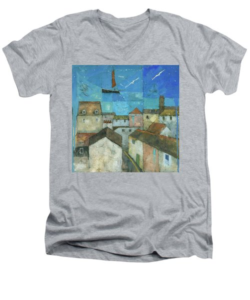 Falmouth Men's V-Neck T-Shirt by Steve Mitchell