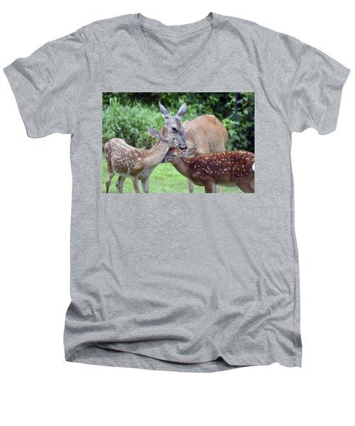 Family Hug Men's V-Neck T-Shirt