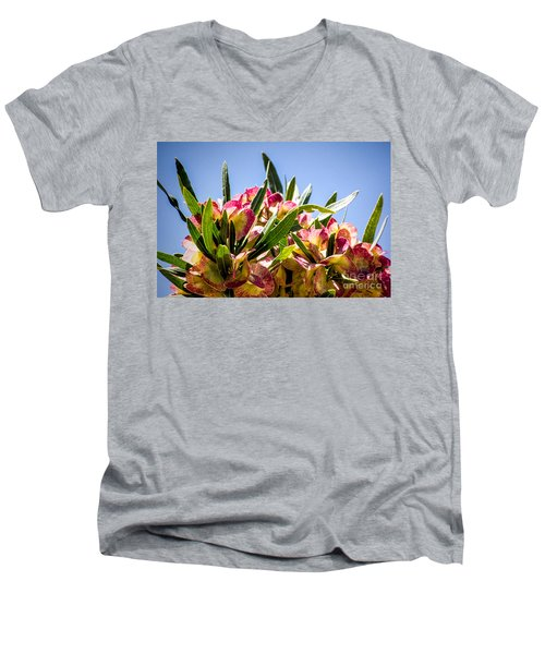 Fanned Flowers Men's V-Neck T-Shirt