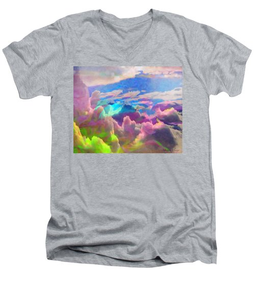 Abstract Fantasy Sky Men's V-Neck T-Shirt