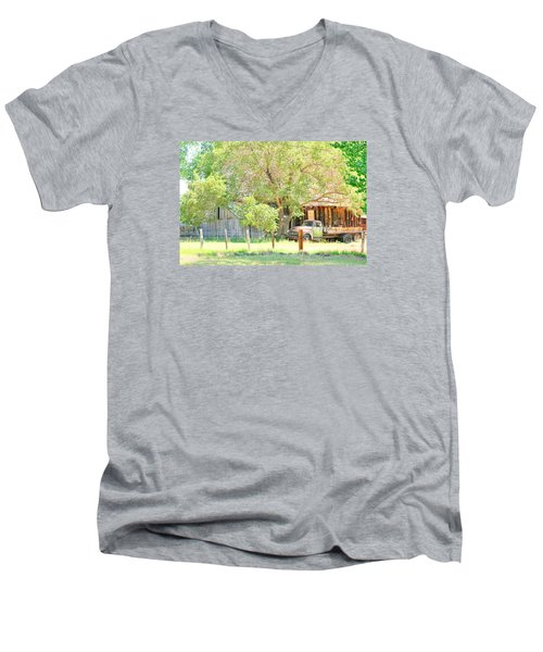 Men's V-Neck T-Shirt featuring the photograph Farm Living by Marilyn Diaz