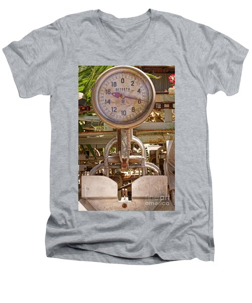 Men's V-Neck T-Shirt featuring the photograph Farm Scale by Kerri Mortenson