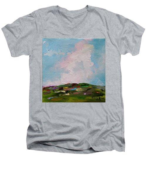 Farmland Iv Men's V-Neck T-Shirt by Judith Rhue
