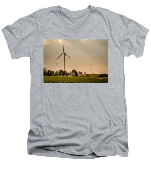 Farms And Windmills Men's V-Neck T-Shirt