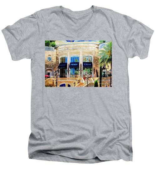Fashion Vegas Style Men's V-Neck T-Shirt