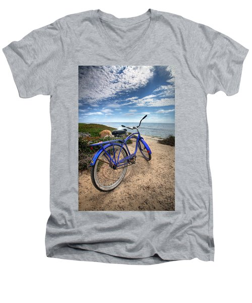Fat Tire Men's V-Neck T-Shirt