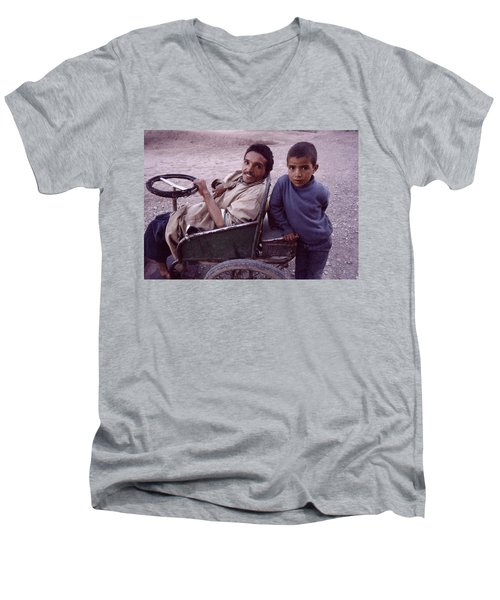 Father And Son Men's V-Neck T-Shirt by Shaun Higson