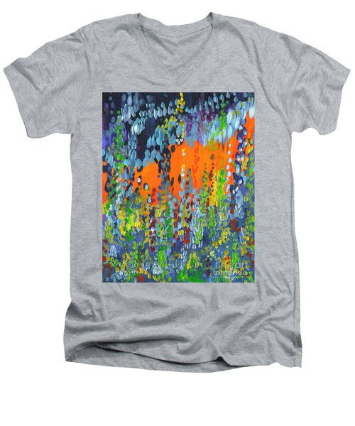 Faux Geo Men's V-Neck T-Shirt