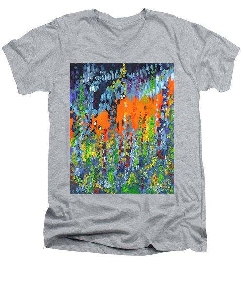 Faux Geo Men's V-Neck T-Shirt
