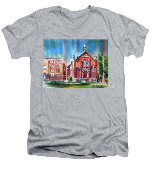 Feed The Birds IIi Men's V-Neck T-Shirt by Kip DeVore