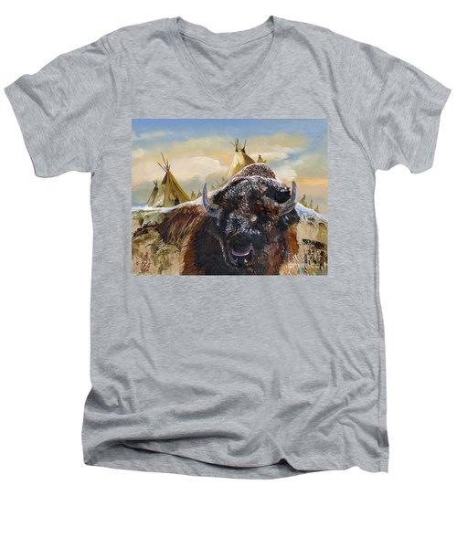 Feed The Fire Men's V-Neck T-Shirt