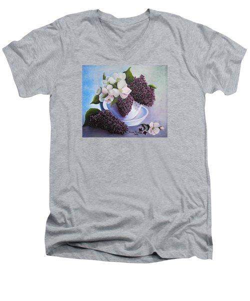 Feel The Fragrance Men's V-Neck T-Shirt by Vesna Martinjak