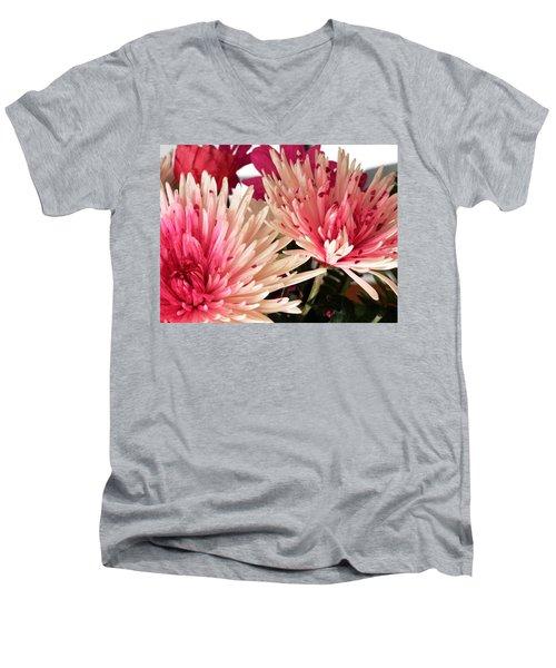 Feel The Heart Felt Love Men's V-Neck T-Shirt