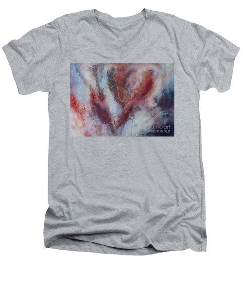 Feelings Of Love Men's V-Neck T-Shirt by Valerie Travers