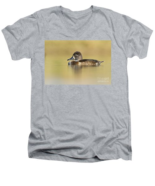 Men's V-Neck T-Shirt featuring the photograph Female Ring Necked Duck by Bryan Keil