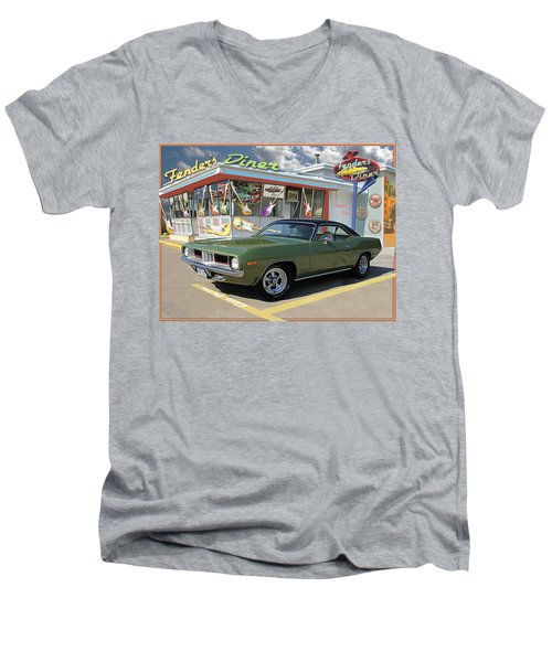 Fenders Diner Men's V-Neck T-Shirt