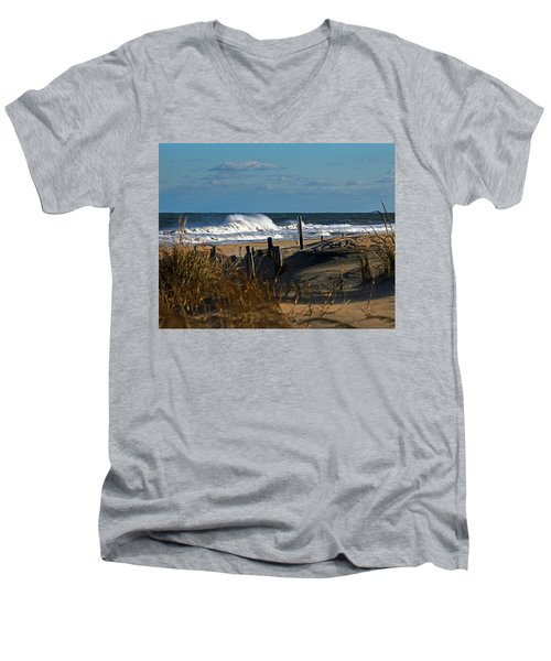Fenwick Dunes And Waves Men's V-Neck T-Shirt