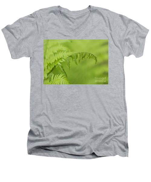Men's V-Neck T-Shirt featuring the photograph Fern by Alana Ranney