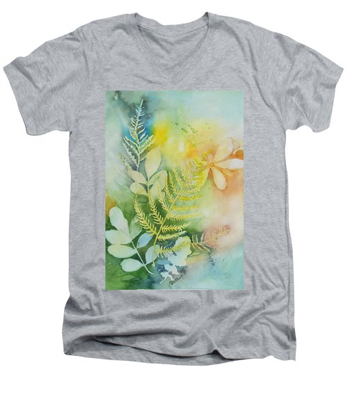 Ferns 'n' Leaves Men's V-Neck T-Shirt