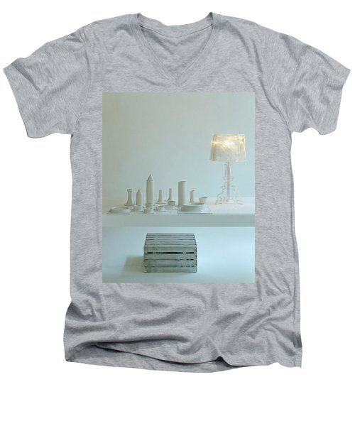 Ferruccio Laviani's Bourgie Lamp From Kartell Men's V-Neck T-Shirt