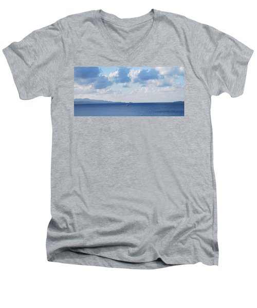 Ferry On Time Men's V-Neck T-Shirt