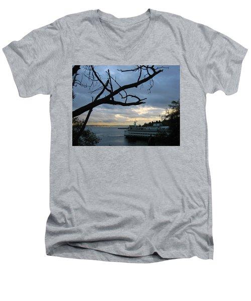 Ferryboat To Seattle  Men's V-Neck T-Shirt