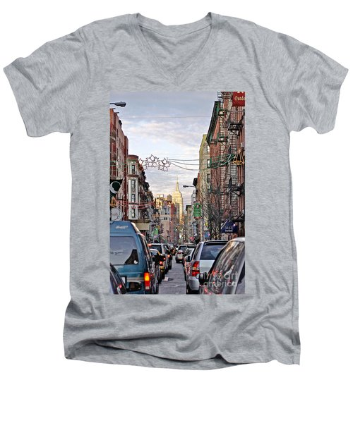 Festive Nyc Men's V-Neck T-Shirt
