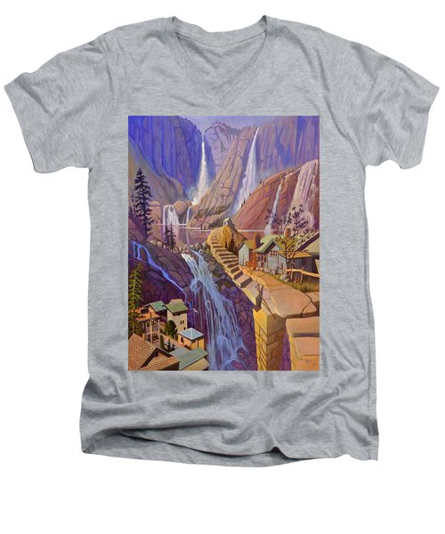 Fibonacci Stairs Men's V-Neck T-Shirt