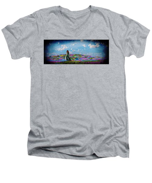 Field Of Flowers... Men's V-Neck T-Shirt