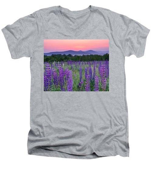 Field Of Purple Men's V-Neck T-Shirt