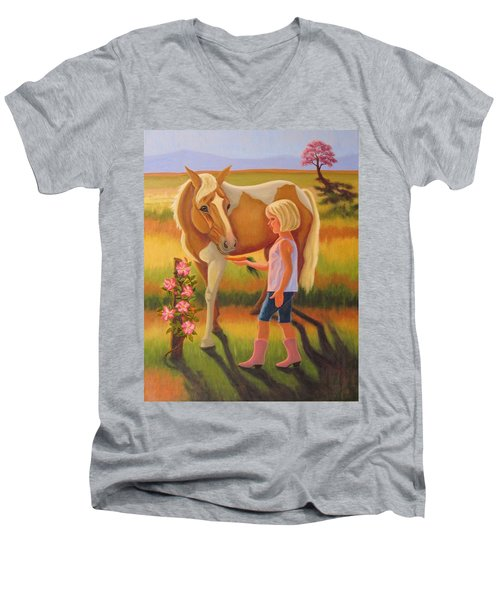 Fields Of Blessing Men's V-Neck T-Shirt