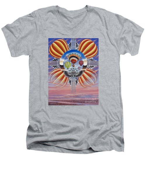 Fiesta De Colores Men's V-Neck T-Shirt