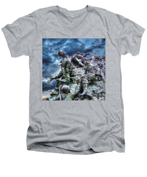 Fight On Men's V-Neck T-Shirt by Dan Stone