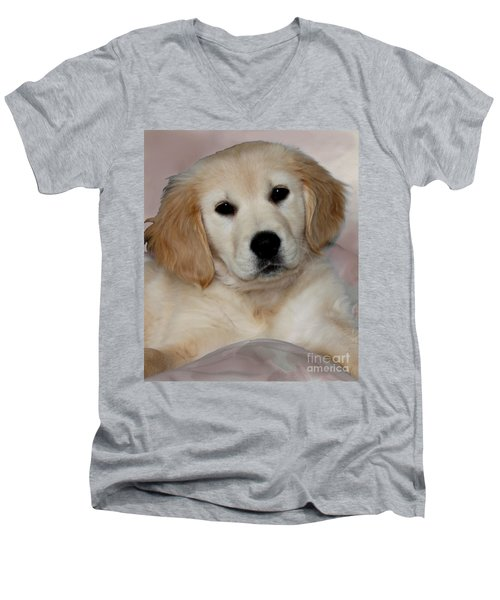 Fiona Men's V-Neck T-Shirt by Debbie Hart