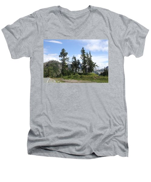 Fir Trees At Mount Baker Men's V-Neck T-Shirt by Tom Janca