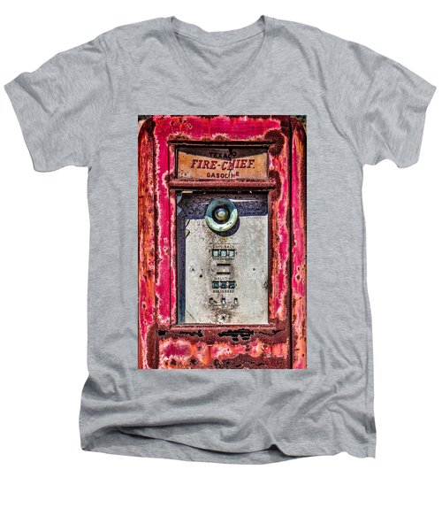 Men's V-Neck T-Shirt featuring the photograph Fire Chief Gas by Steven Bateson
