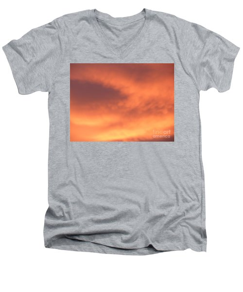 Fire Clouds Men's V-Neck T-Shirt by Joseph Baril