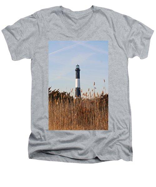 Fire Island Tower Men's V-Neck T-Shirt