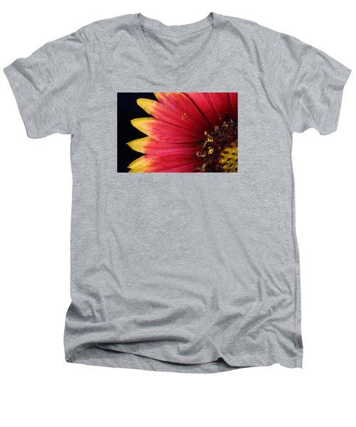 Men's V-Neck T-Shirt featuring the photograph Fire Spokes by Paul Rebmann
