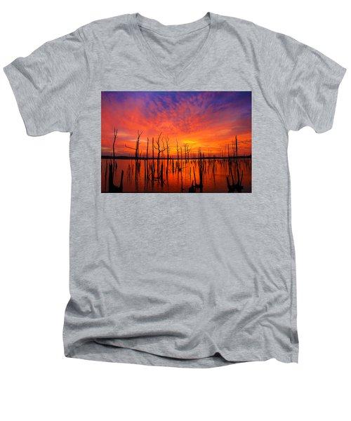 Fired Up Morn Men's V-Neck T-Shirt