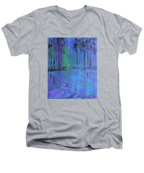 Fireflies Men's V-Neck T-Shirt by Patricia Olson