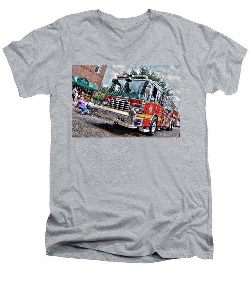 Firetruck Men's V-Neck T-Shirt