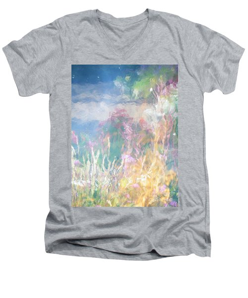 Men's V-Neck T-Shirt featuring the photograph Fireweed Number 9  by Brian Boyle