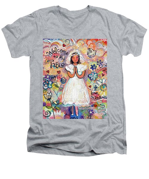 First Communion Girl Men's V-Neck T-Shirt